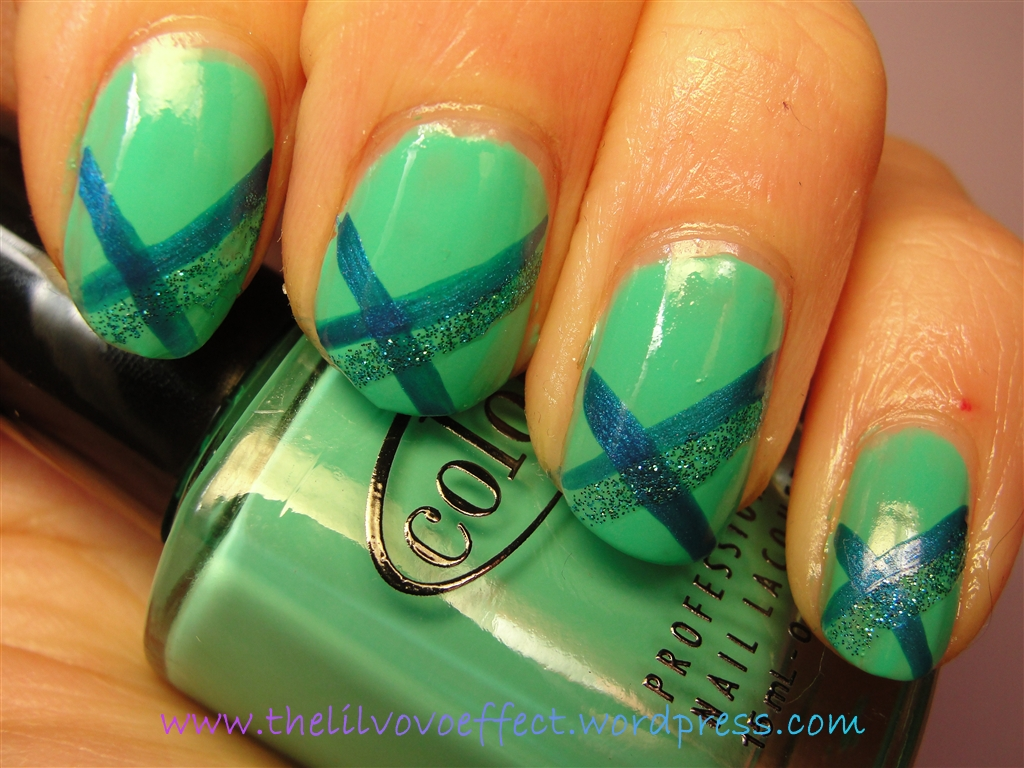 Green-ish Nail Art for Depression Awareness Month | ♥The Lil\' Vovo ...