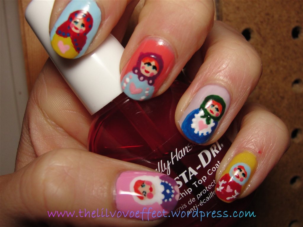 Nail Art Russian Nesting Dolls Matryoshka Dolls The Lil